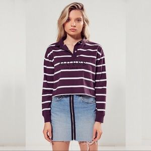 Guess + Urban Outfitters Polo Rugby Crop Top